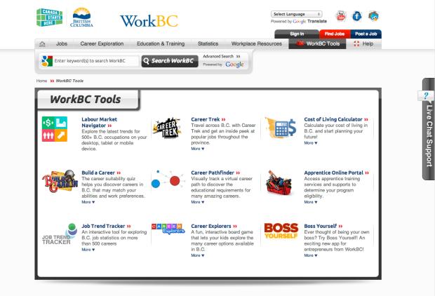 WorkBC Tools